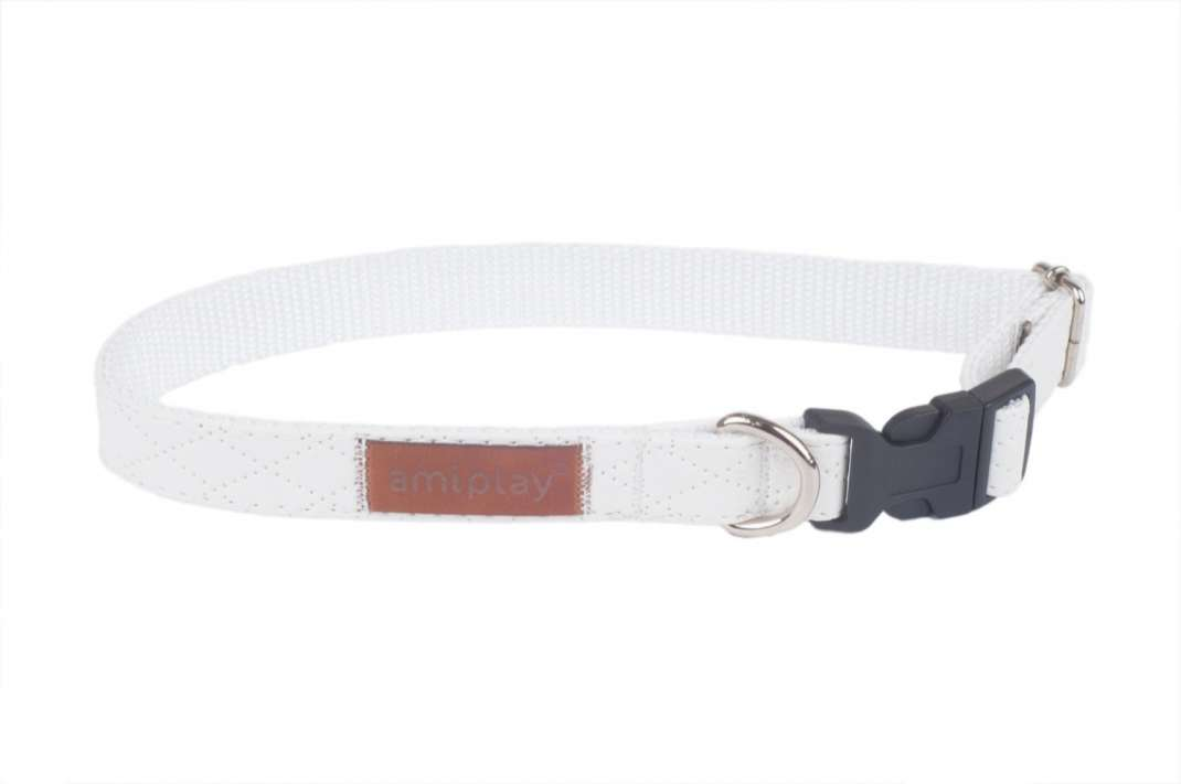 Amiplay Collier Réglable Cambridge  Blanc L