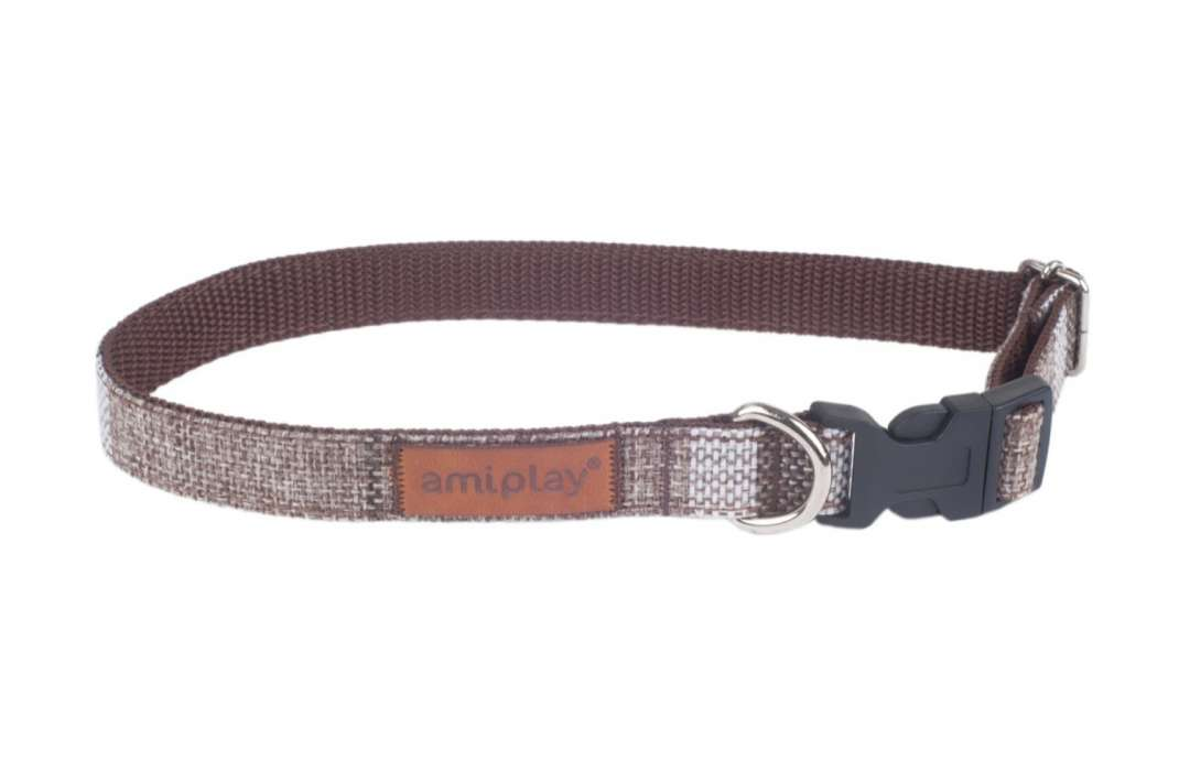 Amiplay Adjustable Collar London  Brown S order cheap