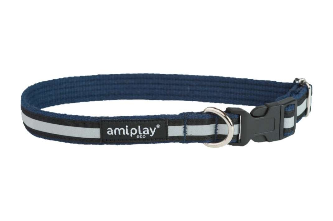Amiplay Adjustable Collar Cotton Shine Navy blue S buy online