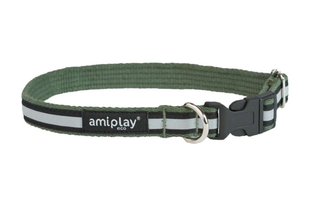 Amiplay Adjustable Collar Cotton Shine Khaki S order cheap