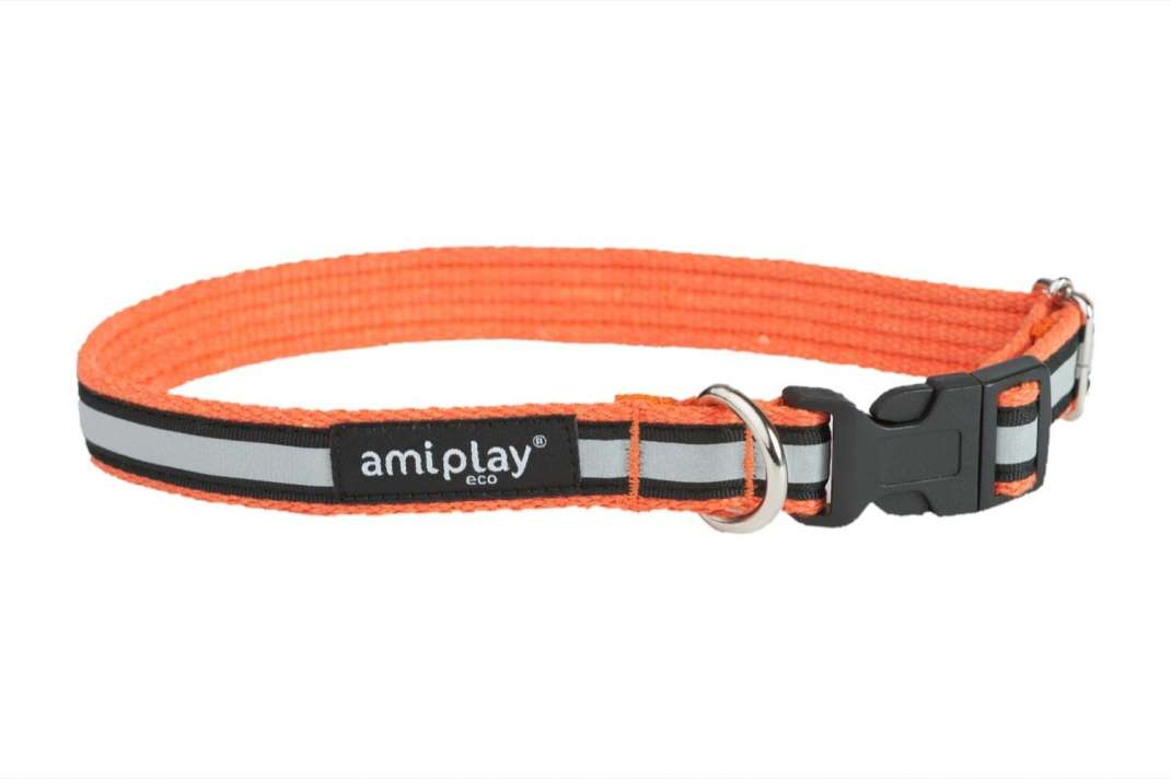 Amiplay Adjustable Collar Cotton Shine Orange XL