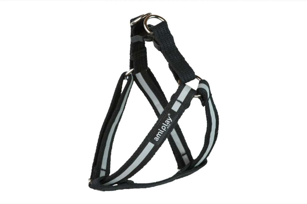 Amiplay Adjustable Harness Cotton Shine  Black S order cheap