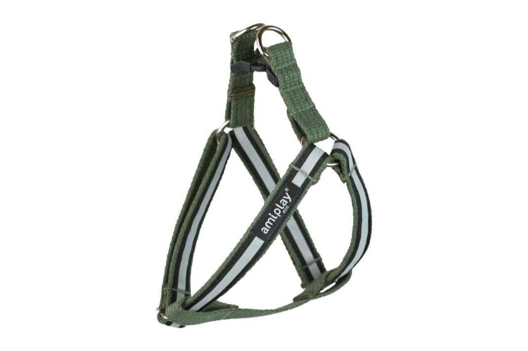 Amiplay Adjustable Harness Cotton Shine Khaki S buy online