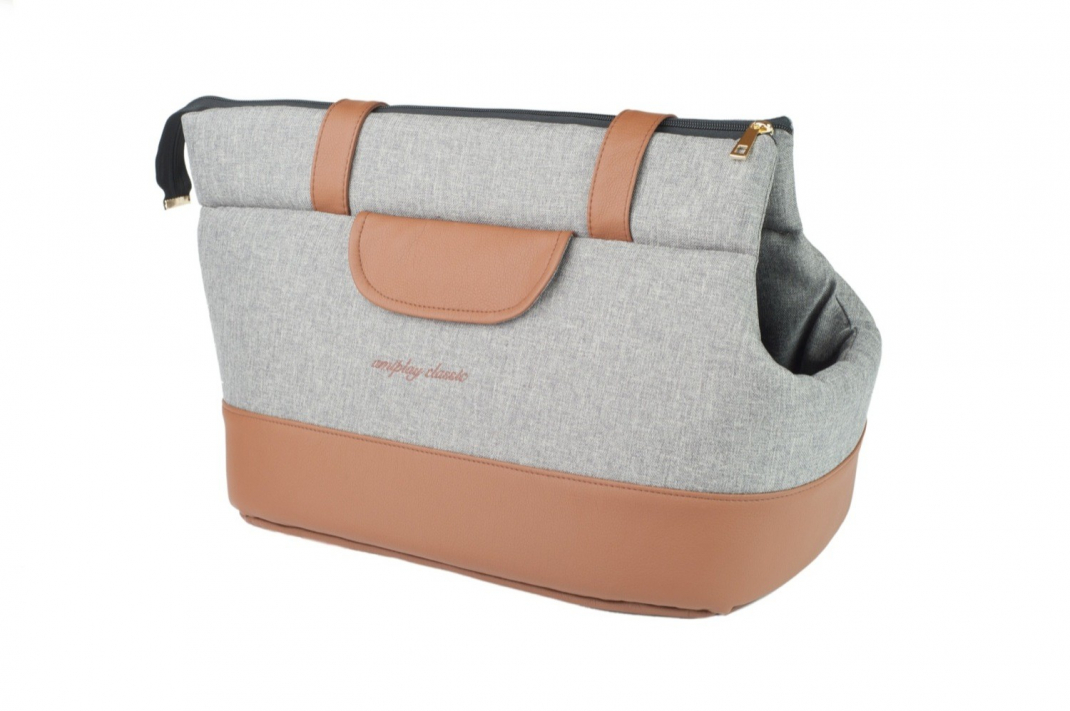 Amiplay Sac de transport Classic  Gris clair S