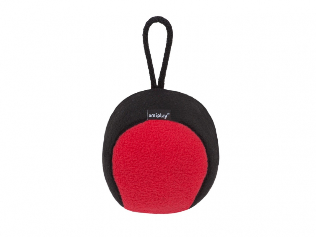 Plush Squeaky Ball Rot S-M von Amiplay bei Zoobio.at
