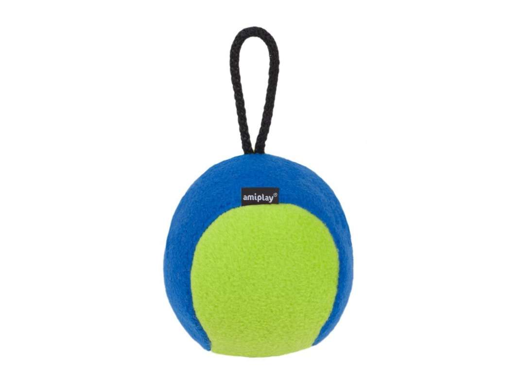 Amiplay Plush Squeaky Ball  Neongrün L-XL