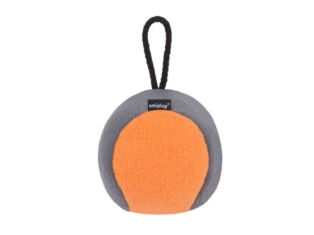 Amiplay Plush Squeaky Ball  Orange L-XL