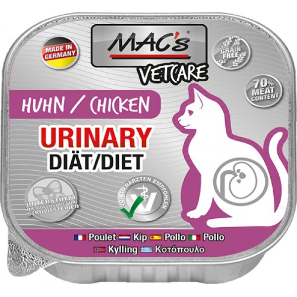 MAC's Vetcare Urinary Diet Poulet 100 g