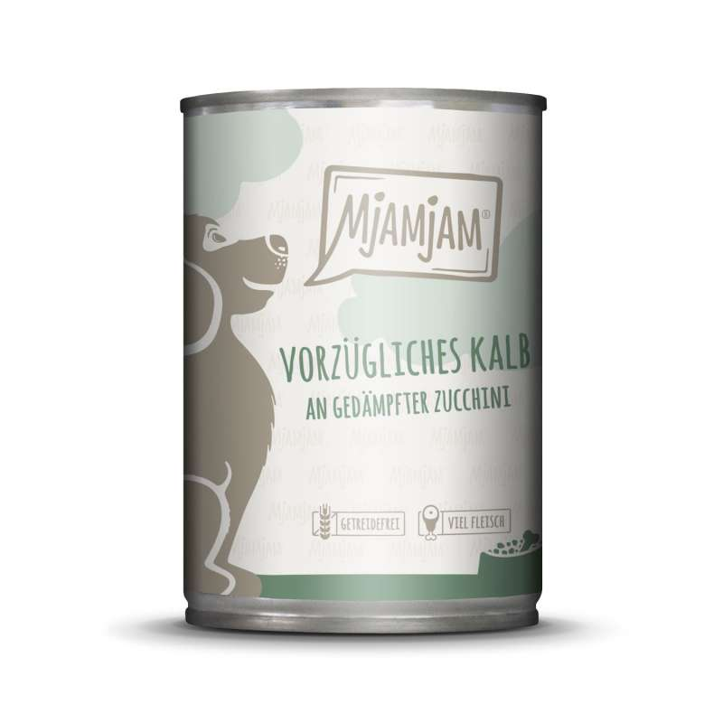 MjAMjAM Excellent Veal with steamed Courgettes 800 g, 400 g, 200 g