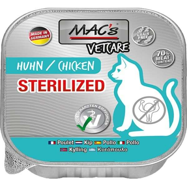 MAC's Vetcare Sterilized Poulet 100 g