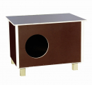 Elmato Cat House Outdoor Tumman ruskea
