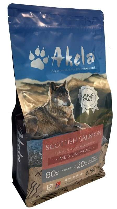 Akela Salmon Puppy / Small Paws 10 kg, 1.5 kg