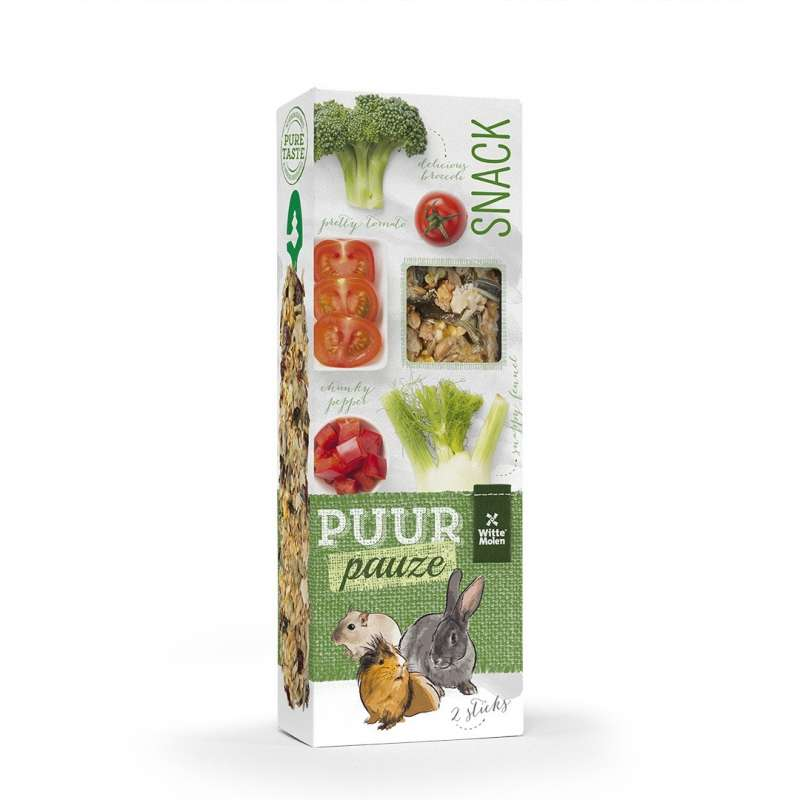 Witte Molen Puur Pauze Sticks Vegetables  Broccoli & Tomaat 110 g