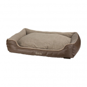 Chateau Memory Foam Box Bed Taupe