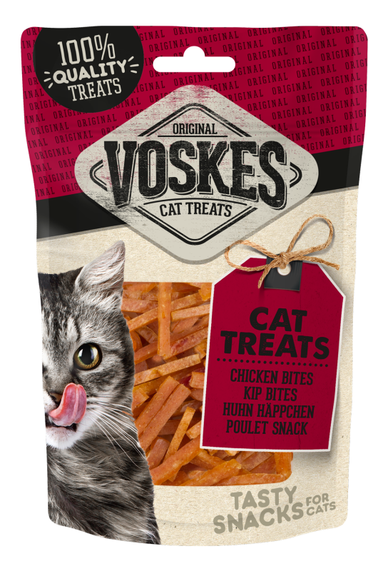 Voskes Original Cat Treats Kip Bites 60 g