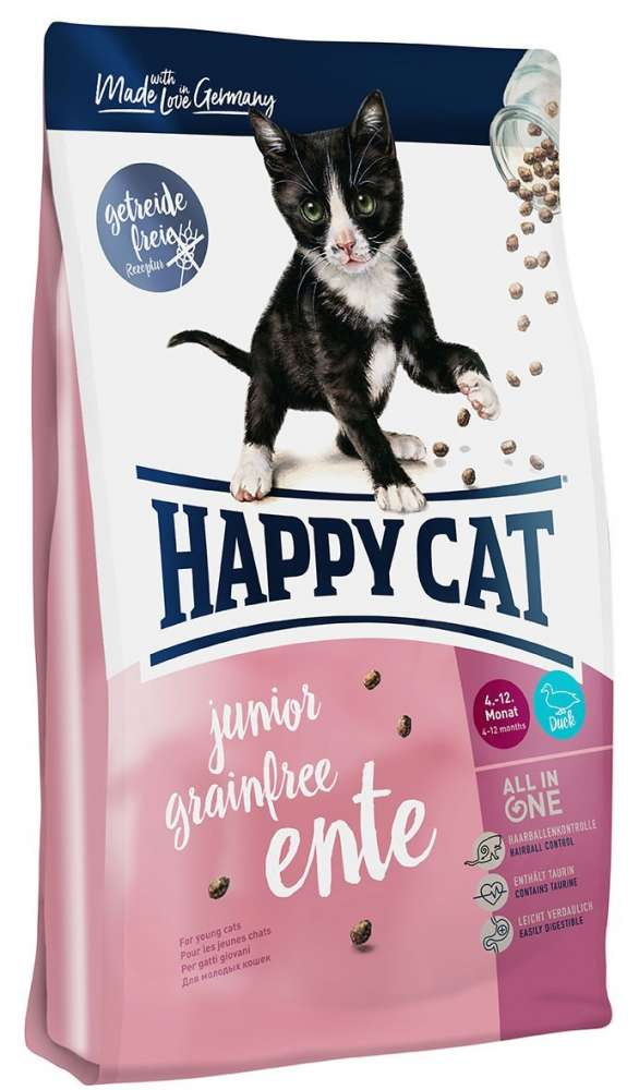 Happy Cat Junior Grainfree Canard 4 kg, 300 g, 1.4 kg