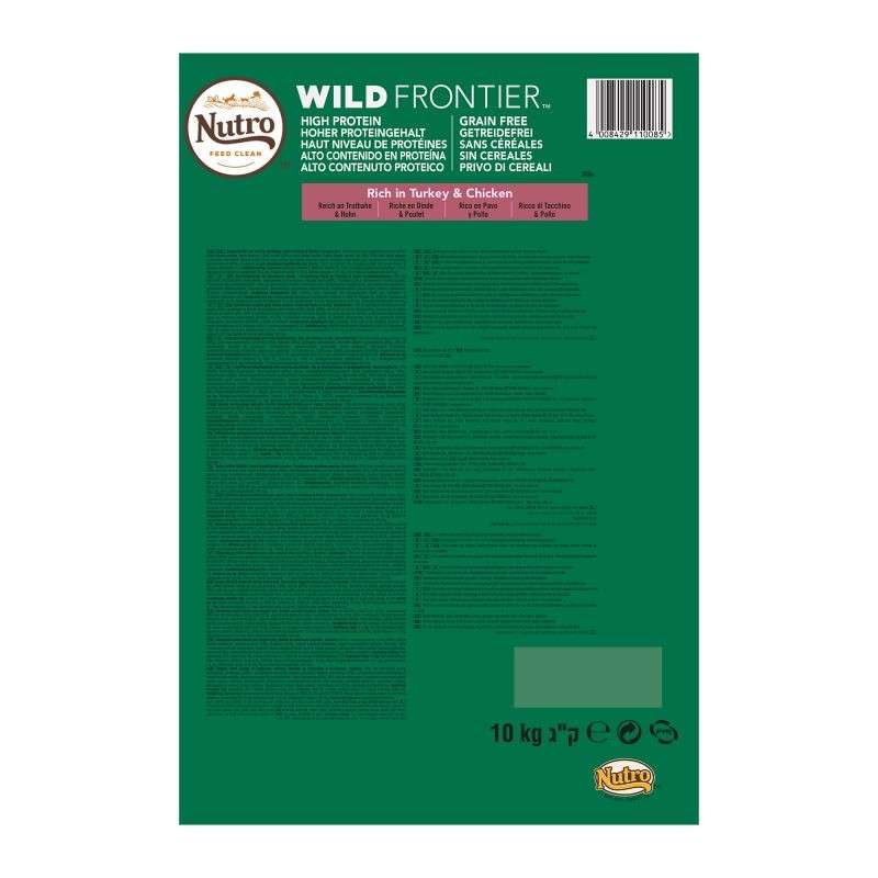 Nutro Wild Frontier Adult Large Breed Tacchino e Pollo 10 kg