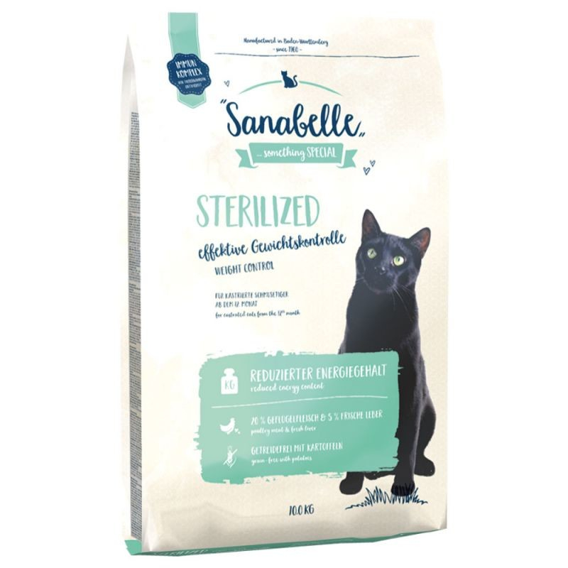 Sanabelle Sterilized 400 g, 2 kg, 10 kg Test