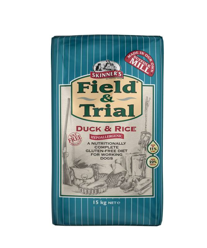 Field & Trial Duck & Rice from Skinner's 2.5 kg, 15 kg buy online