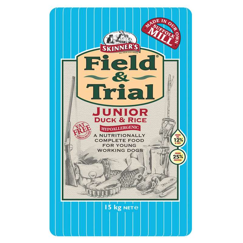 Skinner's Field & Trial Junior Pato y Arroz 2.5 kg, 15 kg