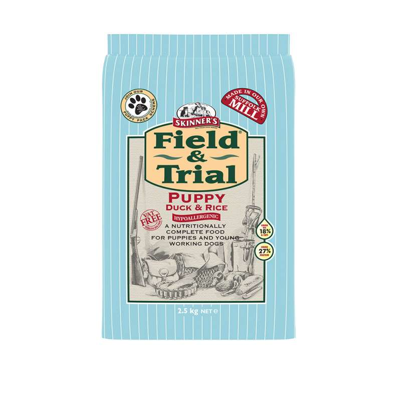 Skinner's Field & Trial Puppy Duck & Rice  Anka & Ris 2.5 kg