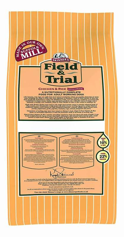 Skinner's Field & Trial Chicken & Rice 2.5 kg, 15 kg