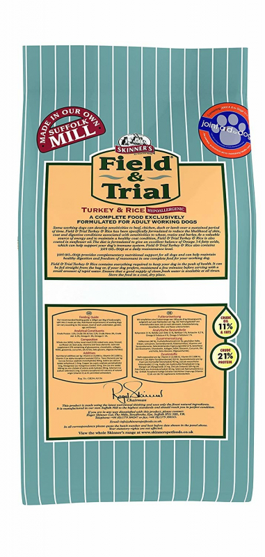 Skinner's Field & Trial Turkey & Rice 2.5 kg, 15 kg
