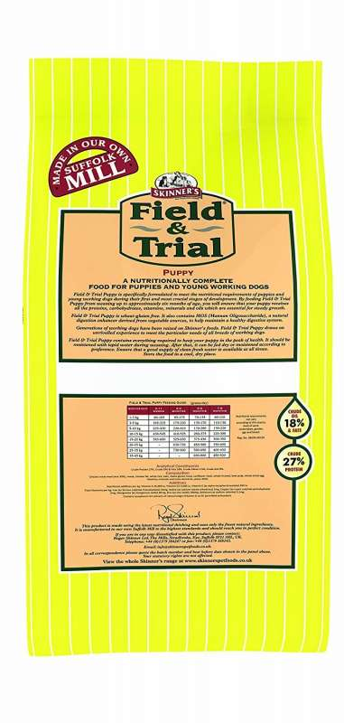 Skinner's Field & Trial Puppy 2.5 kg, 15 kg test