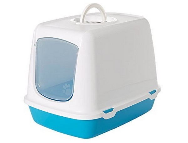 Savic Cat Litter Box Oscar Retro Light blue buy online