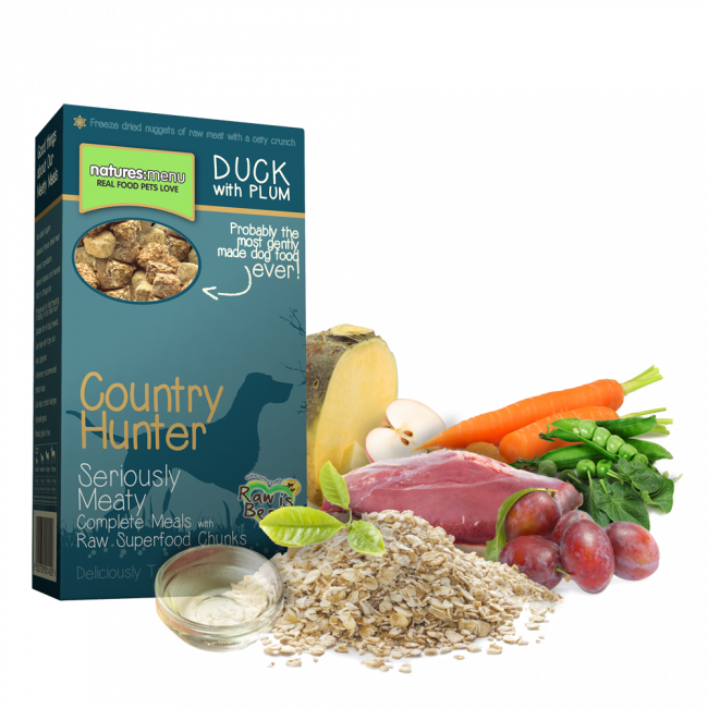 Natures Menu Country Hunter Pato com Ameixa Superfood Crunch 700 g