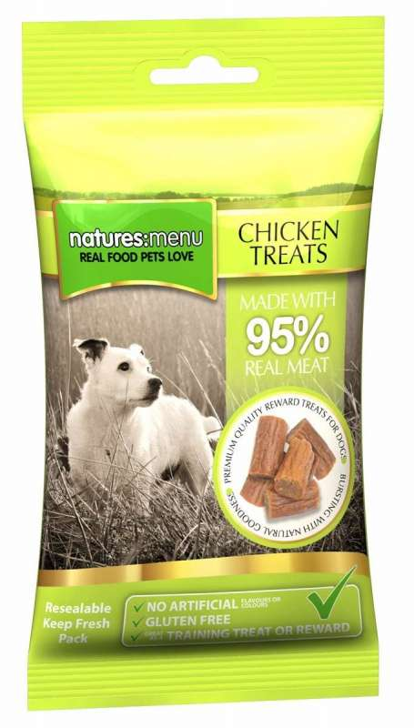 Natures Menu Real Meaty Dog Treats with Chicken 60 g