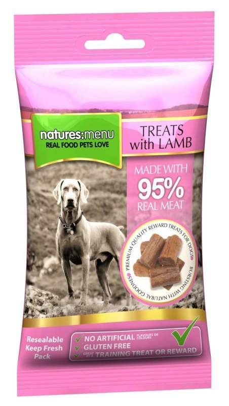 Natures Menu Real Meaty Dog Treats with Lamb 60 g