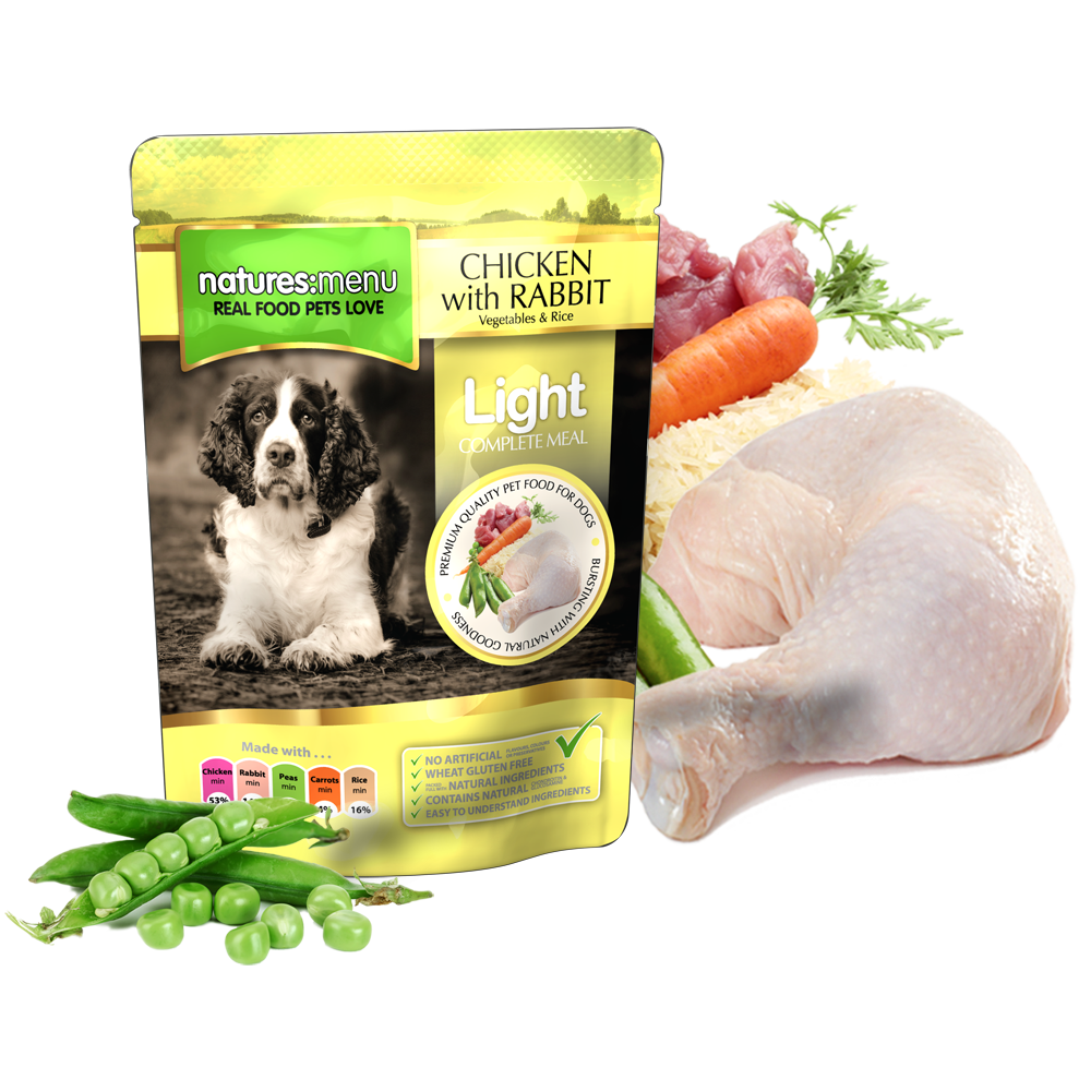 Natures Menu Light Pollo y Conejo 300 g