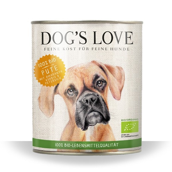 Dog's Love Bio Pute 400 g, 800 g, 200 g bei Zoobio.at