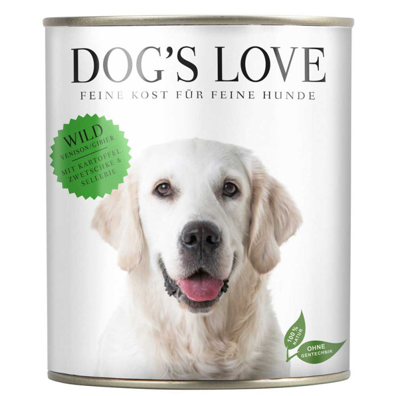 Dog's Love Classic Selvaggina 800 g, 400 g, 200 g