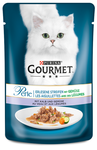 Purina Gourmet Perle Mini Fillets in Gravy with Veal & Vegetables 85 g