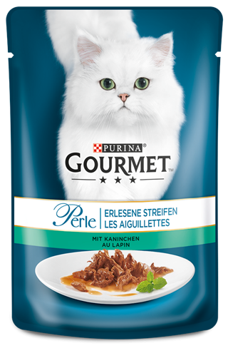 Purina Gourmet Perle Mini Fillets in Gravy with Rabbit EAN: 4000487225954 reviews