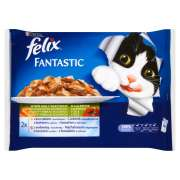 Felix Multipack As Good as it Looks Meaty Selection with Vegetables in Jelly 4x100 g