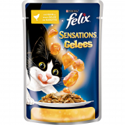 Sensations with Chicken in Jelly with Carrot from Felix 100 g
