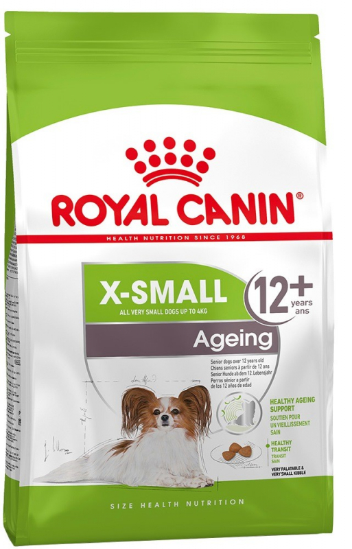 Royal Canin Size Health Nutrition X-Small Ageing 12+ 500 g 3182550793841 erfaringer