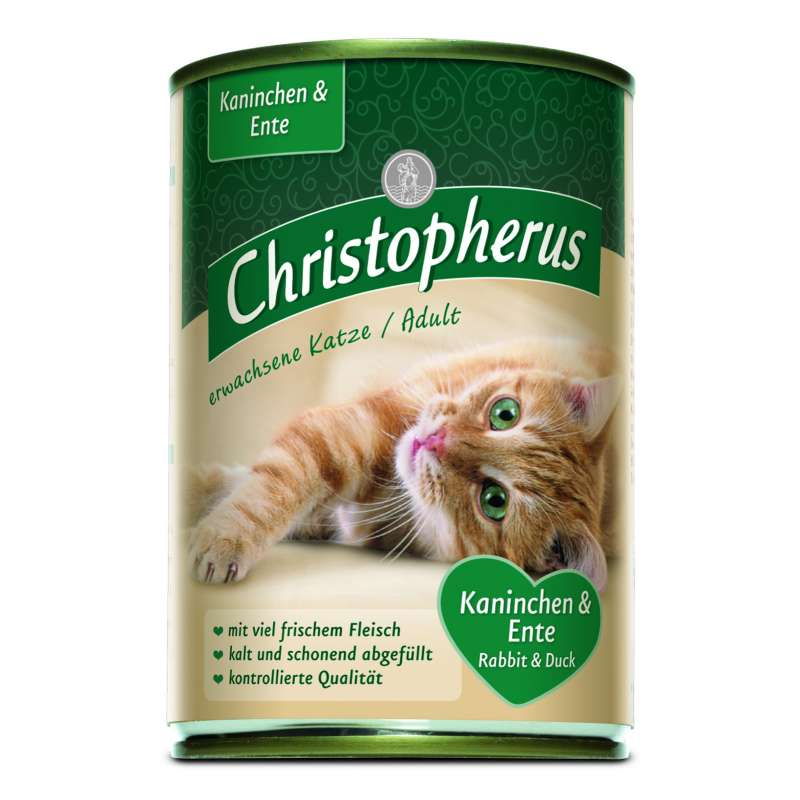 Christopherus Adult Cats - Duck & Rabbit Can 400 g, 200 g, 800 g test