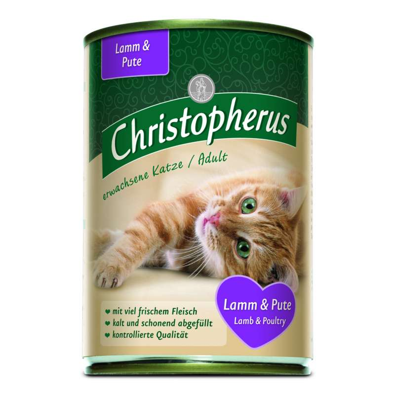 Christopherus Adult Cats - Lamb & Turkey Can 400 g 4005784174042 anmeldelser