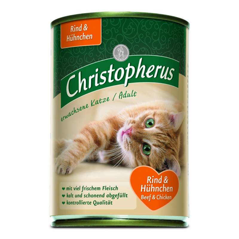 Christopherus Adult Cats - Beef & Chicken Can 400 g