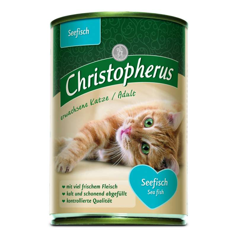 Christopherus Adult Cats - Sea fish Can 400 g 4005784174073 anmeldelser