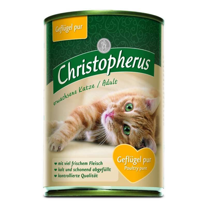 Christopherus Adult Cats - Pure Poultry Can 400 g