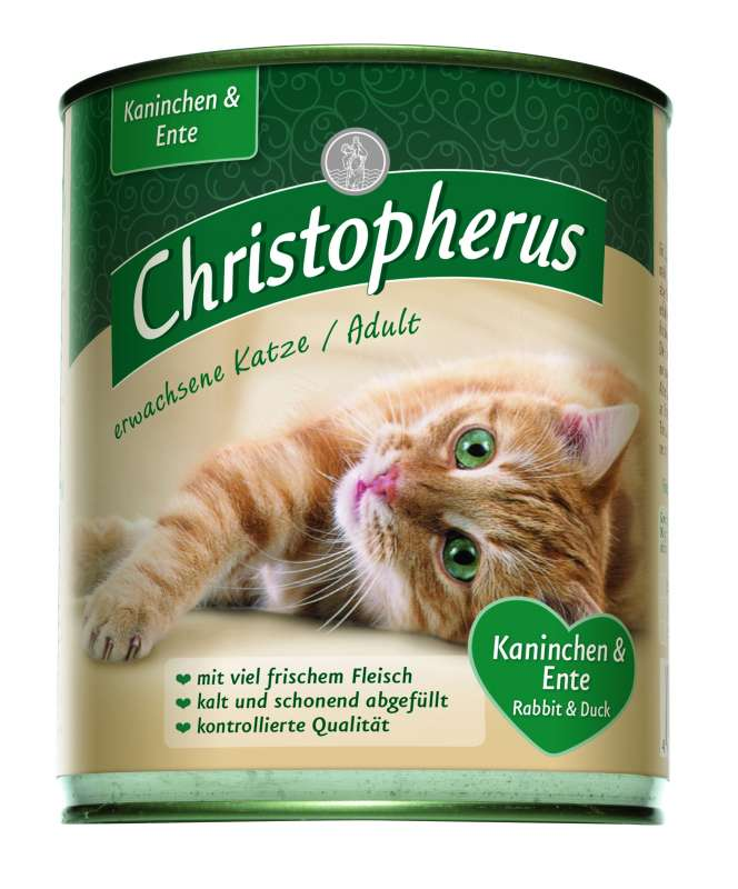 Christopherus Adult Cat - Rabbit & Duck Can 800 g