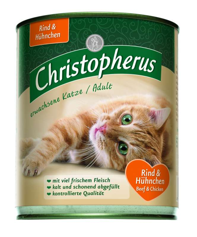 Christopherus Adult Cat - Beef & Chicken Can 400 g, 200 g, 800 g test