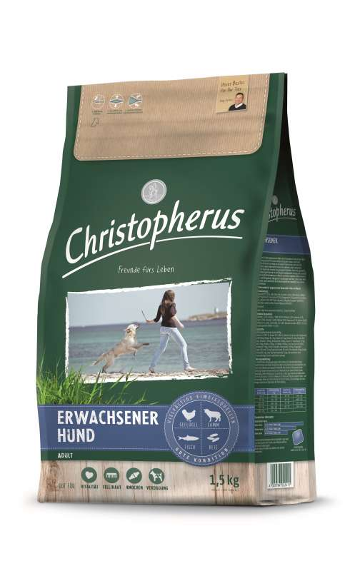 Christopherus Adult Dog – Poultry, Lamb, Eggs & Rice 4 kg, 12 kg, 1.5 kg