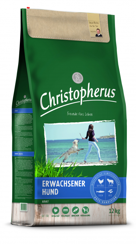 Christopherus Adult Dog - Poultry, Lamb, Eggs & Rice 4 kg, 12 kg, 1.5 kg osta edullisesti