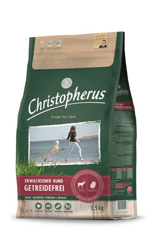 Christopherus Adult Dog Grainfree – Deer and Potatoes 1.5 kg 4005784022589 ervaringen
